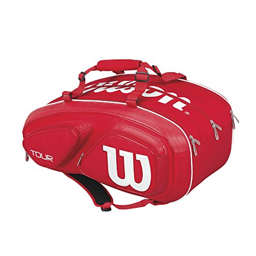 WILSON Tour V 15 Pack Rd, Zaino Unisex-Adulto, Rosso (Red), 36x24x45 Centimeters (W x H x L)
