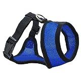 CGDZ 1 STÜCK Haustier Hund Brustgurt Leine Einstellbar Weiche Atmungsaktive Hundegeschirr Nylon Mesh Weste Harness für Hunde Welpen Kragen Katze XS dunkelblau