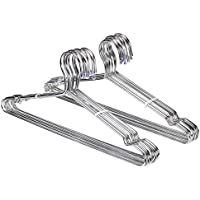 JUNING Stainless Steel Clothes Hangers Strong Metal Coat Hangers Wire Hangers Suit Hangers, 20 Pack