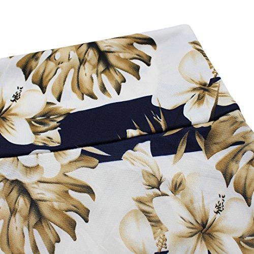 Novias Boutique, maxi gonna a pieghe, a vita alta, da donna, perfetta come regalo di Natale Red Stripe X-Large White Lily