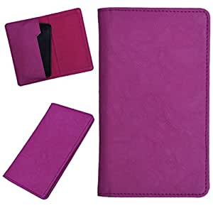 DCR Pu Leather case cover for Blu Life Pure Mini (pink)