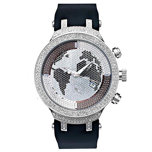 Joe Rodeo Diamond orologio da uomo-Master Silver 2.2Ctw