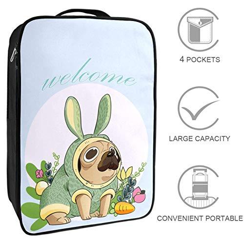Bennigiry Kaninchen-Kostüm Hund Reise Schuh Tasche tragbar Aufbewahrung Wochenender Golf Schuhe Organizer Taschen für Damen und - Reisen Kostüm