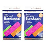 Best Band-Aid Bandages - 120 Neon Adhesive Bandaid Waterproof Bandages Strip 3 Review