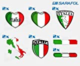 Italien Aufkleber Set 14 tlg. (Nr.069) Adesivo Tricolore Italia Italy Sticker Set Collection