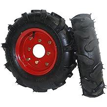 "Bricoferr PTMT034 - 1Juego de ruedas agrícolas neumáticas (400 x 8"", aperos de motoazada)"