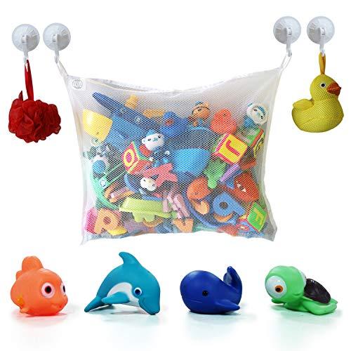 Cosy Angel Bad Spielzeug Organizer Bad Spielzeugnetz Badewanne Spielzeugnetz mit 4 Klebehaken & 4 Bad Spielzeug