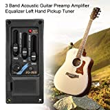 3Band Akustische Gitarre Vorverstärker Verstärker Equalizer links Hand Tonabnehmer Tuner