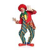 Kostümplanet® Clown-Kostüm Kinder fröhlich buntes Zirkus Clowns-Kostüm 3-TLG. Größe 140