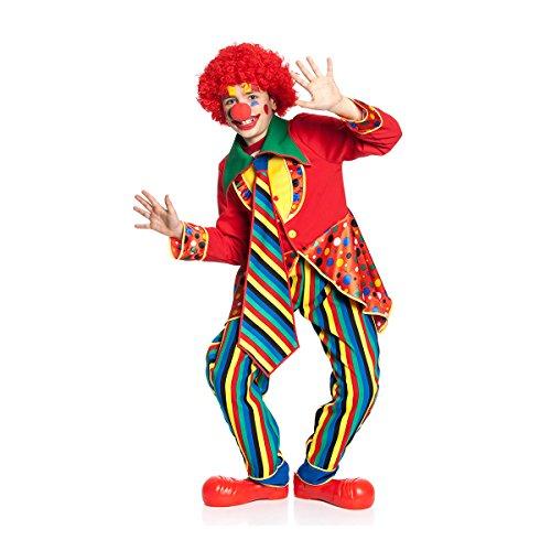 Kostümplanet Clown-Kostüm Kinder fröhlich Buntes Zirkus Clowns-Kostüm 3-tlg. Größe 116 (Mädchen Zirkus Clown Kostüm)