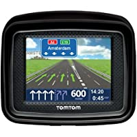 TomTom Urban Rider Europe IQ Routes Motorcycle Yoke Cap GPS System (8.9cm (3.5Inches) Display, Traffic Lane Assistance With Car Mounting Kit