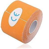 Liroyal orange 5m x 5cm Kinesiologie Elastisches Tape Seil für Physiotherapie/Sport Verletzungen Support 1Rolle preisvergleich bei billige-tabletten.eu