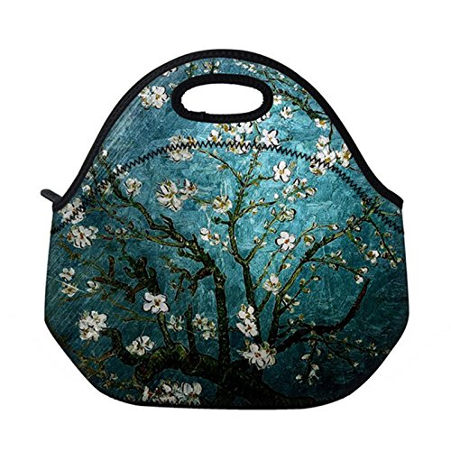 b231fc815d87 Newplenty Lunch Bag Waterproof Picnic Tote Insulated Cooler Zipper Box,  Romantic Tree