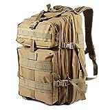 NACATIN Zaino Militare Impermeabile 45L Grande capacità Tessuto Oxford, Zaino da Trekking Tattico per Uomo, Borsa da Donna Molle Zaino all'Aperto da Trekking, Caccia, Sistema Molle (Cachi)