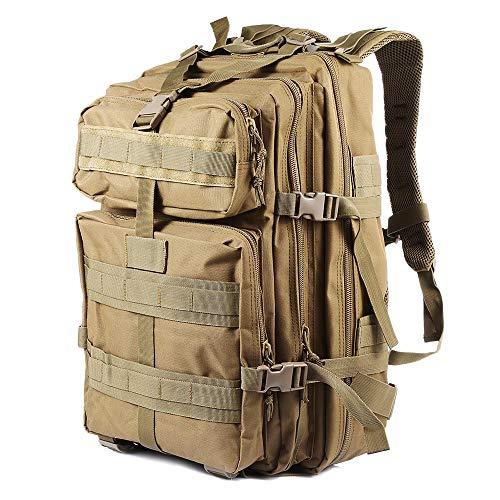 NACATIN Mochila Militar Impermeable de 45l Gran Capacidad Tela Oxford,