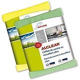 ALCLEAR 8215810yg Chiffon de Cuisine en Microfibre Ultra, Jaune/Vert, 32x36 cm, Set de 2