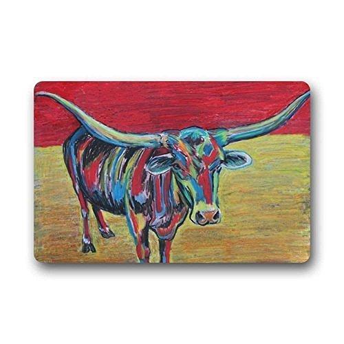 Aeykis Türmatte Novelty Design Custom Machine Washable Milk Cow  Indoor Outdoor Doormat by 23.6 X aa01fa181666
