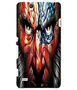 Citydreamz America\USA\Flag Hard Polycarbonate Designer Back Case Cover For Sony Xperia C4/C4 Dual Sim/E5303 E5306 E5353