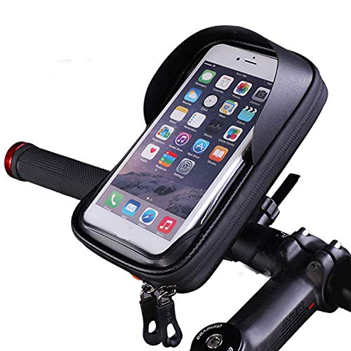 Jiqiaoda2 Lenkbar Pouch Outdoor Cycling Bike Bicycle Handlebar 6.0 Inch Touch Screen Phone Pouch Bag-Black 6 Zoll f¨¹r iPhone 7/8/Xr Xs f¨¹r Samsung A7 S7 S8 S9 S10 S10 Note 8/9 f¨¹r Huawei Universal-nylon-eva Pouch
