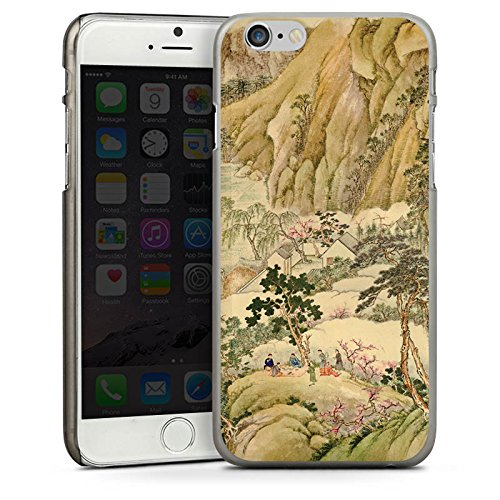 Apple iPhone 5s Housse Étui Protection Coque Chinese Art Tableau Chine CasDur anthracite clair