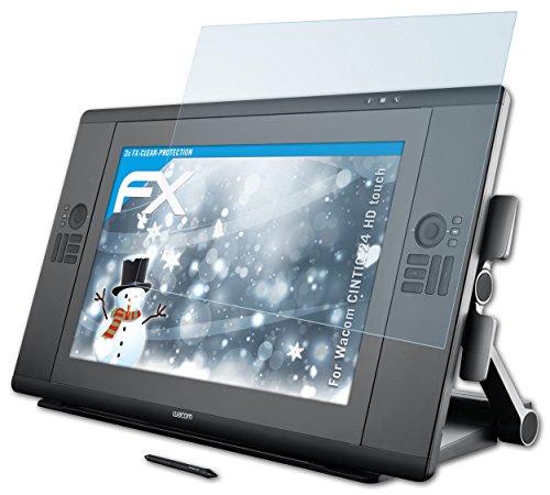 2 x atFoliX Lámina Protectora de Pantalla Wacom CINTIQ 24 HD touch Película Protectora - FX-Clear ultra transparente