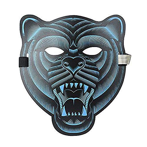 QYHSS Halloween LED Scary Maske, LED Party Maske Cosplay Glow Light up Masken, Horror Light Soundaktiviert Glowing Kostüm, für Kostüm, Party, Festival, Cosplay, - Shining Star Kostüm