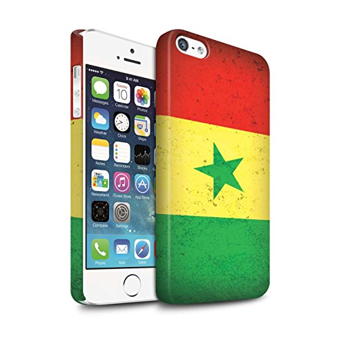STUFF4 Matte Snap-On Hülle / Case für Apple iPhone 7 / Ägypten/Ägypter Muster / Afrika Flagge Kollektion Senegal/Senegalese