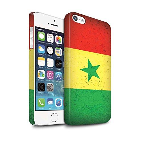 Clipser Matte Coque de Stuff4 / Coque pour Apple iPhone 6 / Tunisie/Tunisien Design / Drapeau Africain Collection Sénégal/Sénégalais