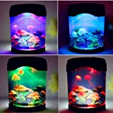 Bayrick Creative Sea World LED Multi Colored Swimming Jellyfish Tank Simulation Mood Lamp Home Decor