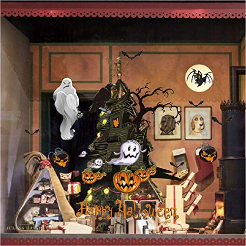 YIHOPAINTI Halloween-Wandaufkleber für Fenster, Glastüren (Fenster-ideen Für Halloween)