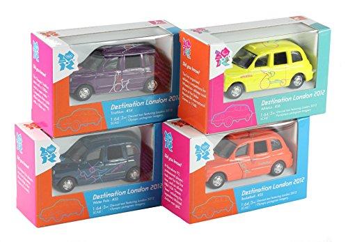 Image of Set of 4 - Corgi London 2012 Destination London Taxi Diecast Collectable Models #33, #34, #35 & #36