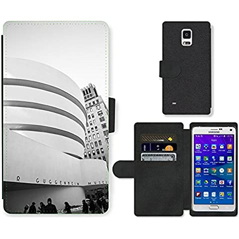 PU LEATHER case coque housse smartphone Flip bag Cover protection // M00169415 Museo de Arte Moderno de Nueva York // Samsung Galaxy Note 4