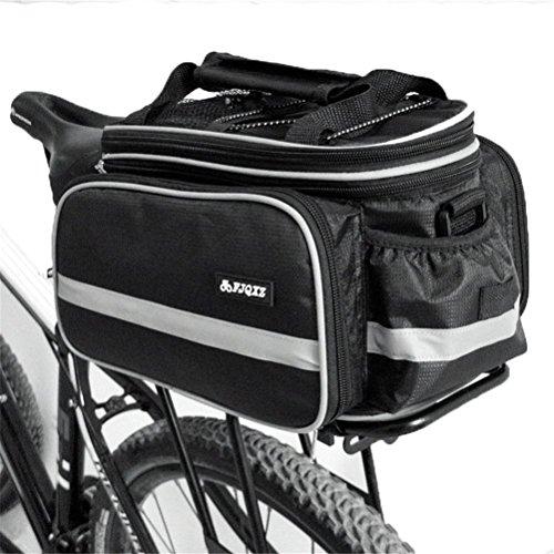 Fortuning's JDS Sitzgestell Tasche Beutel mit Schultergurt für Außenreitwander Radfahren zurück Schwarz