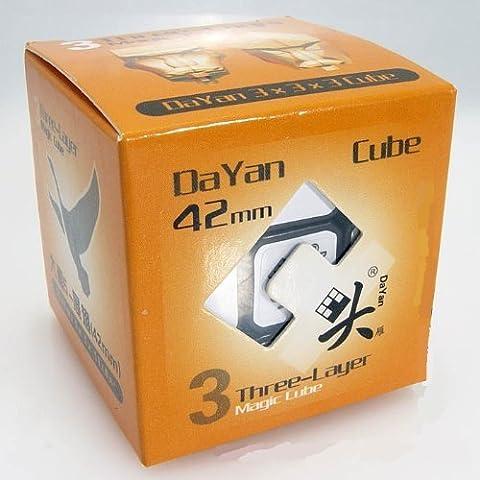 DAYAN 42mm Mini Zhanchi 3X 3velocidad Cubo Negro 4.2cm