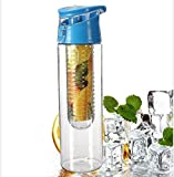 #5: New Stylish 800ml High Quality Tritan Plastic Sports Water Bottle Flip Lid With Fruit Infuser - FRUJUC