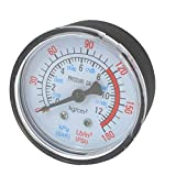 Compresseur d'air liquide hydraulique Aspirateur pneumatique manomètre 0-12bar