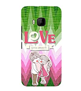 EPICCASE puppy love Mobile Back Case Cover For HTC One M9 (Designer Case)