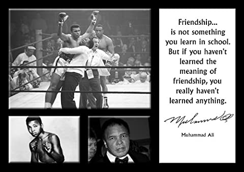 Muhammad Ali 1–A4–BOXING legend célèbres citations-cotations-GYM-Poster Texte SPORTS, boxe