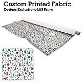 Weihnachtsbäume Zuckerstange & Herzen Design Digitaldruck gestrickt Jersey bedruckten Stoff 59