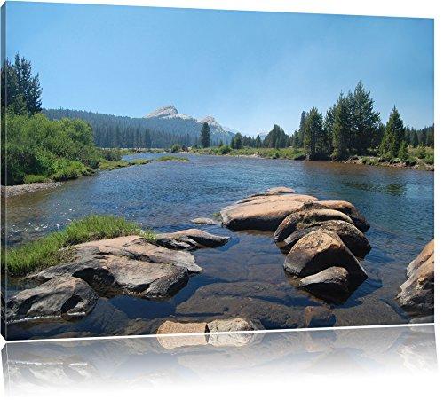 Tuolumne River, Yosemite National Park 100x70cm Bild auf Leinwand, XXL riesige Bilder fertig gerahmt...
