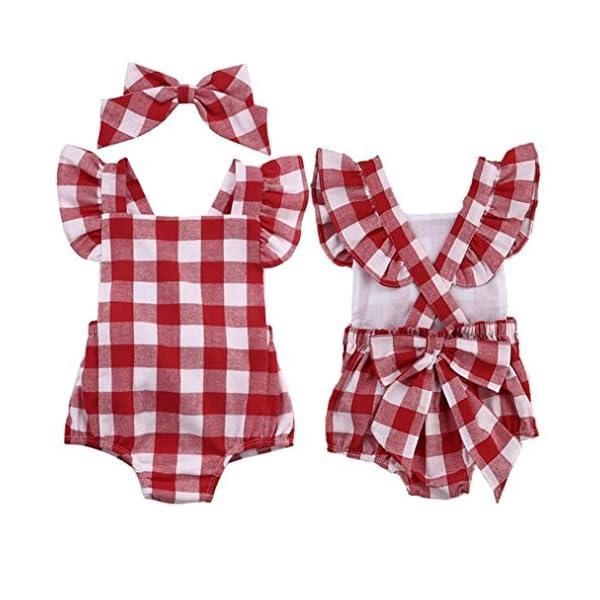 FAMILIZO Mameluco, Bebé ReciéN Nacido AlgodóN Bowknot Ropa Conjunto Traje Mono Traje Set Romper 2
