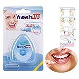 Yiitay 50m Micro Cera Seda Alta elasticidad Hilo interdental superfino Cuidado e higiene oral