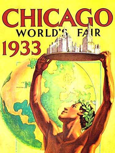 1933 Fine Art (ADVERT EXHIBITION WORLD FAIR 1933 CHICAGO USA FINE ART PRINT POSTER 30x40cm CC106)