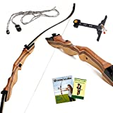 Takedown Recurve Bow and Arrow - 62