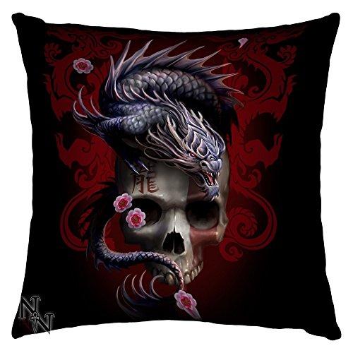Eastern Skull-Cuscino a forma di drago di Anne Stokes