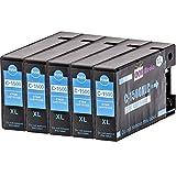 5er Set - kompatible Tintenpatronen zu CANON PGI-1500XLC   5x Cyan 18ml   geeignet für Canon Maxify MB2050 / MB2150 / MB2155 / MB2350 / MB2750 / MB2755