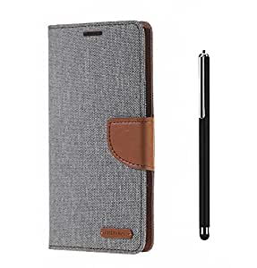 Relax&Shop Quality Flip Cover With Stylus Pen For Iphone 6 / 6S- (Grey Flip+ Colors May Vary In Stylus)