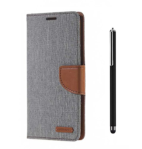 HTC Desire 820 Premium Wallet Flip Case Cover (Matte Grey+ Stylus Pen) By Mobile Life  available at amazon for Rs.219