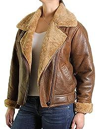 9913af0ea4 Suchergebnis auf Amazon.de für: Fliegerjacke Leder - Damen: Bekleidung