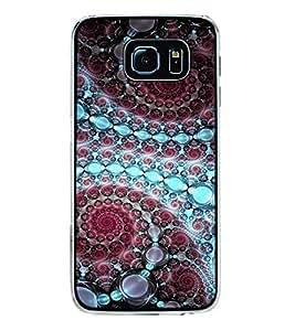 Fuson Designer Back Case Cover for Samsung Galaxy S6 Edge :: Samsung Galaxy S6 Edge G925 :: Samsung Galaxy S6 Edge G925I G9250 G925A G925F G925Fq G925K G925L G925S G925T (wheels circles balls rangoli artwork)